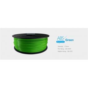 Filament ABS tekercs, 1,75mm Zöld (1kg)