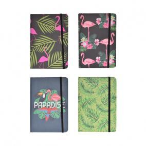 Füzet flamingós vonalas 12,5x17,5cm 6 féle [1 db]