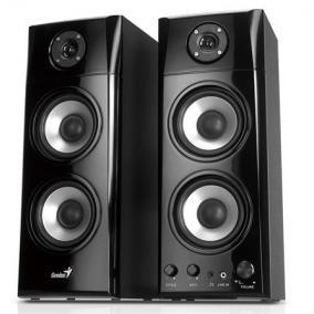Hangszóró,2.0, 50W, 1800W PMPO, fa borítás, GENIUS