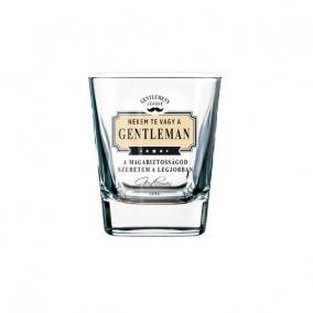 GL whiskys pohár NHF A magabiztosságod szeretem a legjobban üveg 8x9cm