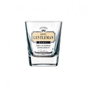 GL whiskys pohár NHF Soha ne keress kifogásokat! üveg 8x9cm