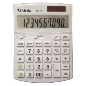 Számológép, asztali, 10 számjegy, környezetbarát, VICTORIA