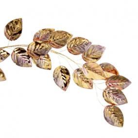 Girland bükkfa levéllel polyester 130 cm x 13 cm x 2 cm rosegold