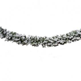 Girland havas 180 ággal műanyag 18 cm x 250cm zöld