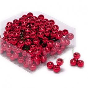 Gömb betűzős üveg 2cm málna piros [144 db]