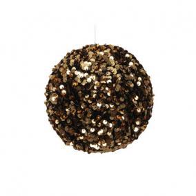 Gömb flitteres műanyag 10 cm arany
