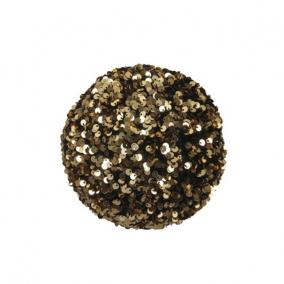 Gömb flitteres műanyag 13 cm arany