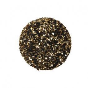 Gömb flitteres műanyag 20 cm arany