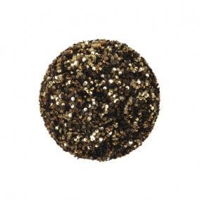 Gömb flitteres műanyag 25 cm arany