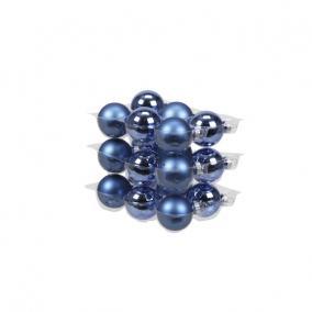 Gömb üveg 4cm kék fényes-matt [18 db]