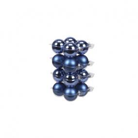 Gömb üveg 5,7cm kék fényes-matt [16 db]