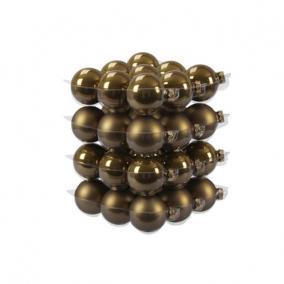 Gömb üveg 5,7cm oliva barna fényes-matt [36 db]