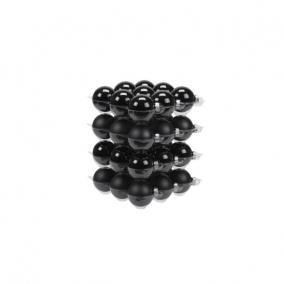 Gömb üveg 5,7 cm fekete fényes-matt [36 db]