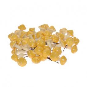 Gomba polyfoam 2,8 cm x 2,8 cm sárga [48 db]