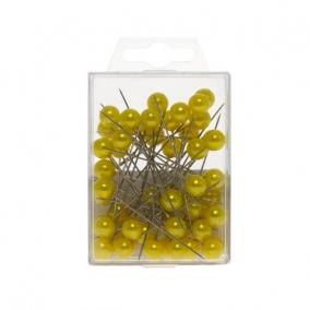 Gombostű 10 x 60 mm sárga [50 db]