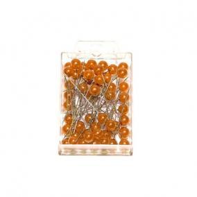 Gombostű 10x60mm narancs [50 db]