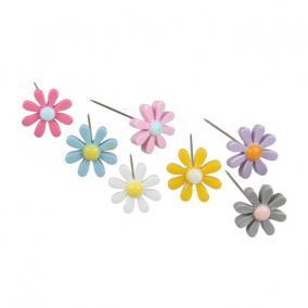 Gombostű virágos 3 cm színes [24 db]