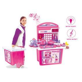 Gyermek összecsukható konyha - rózsaszín