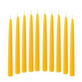 Gyertya húzott 2x20cm sárga [10 db]