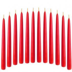 Gyertya húzott 2x25cm piros [50 db]