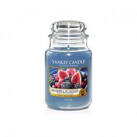 Gyertya nagy üvegben mulberry & fig delight 17x10cm