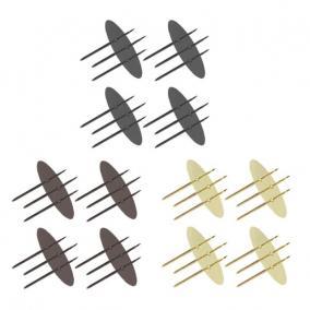 Gyertyatüske 8 cm arany, barna, antracit [4 db]