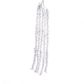 Gyöngy ág hungarocell 130cm fehér fényes