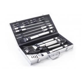 Grillező készlet 17db-os, alumínium kofferben