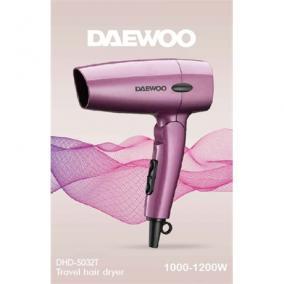 Hajszárító, összecsukható, Daewoo DHD-5032T, 1200W, rózsaszín