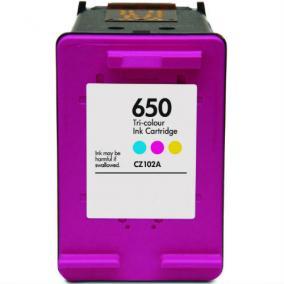 HP CZ102AE [Col] #No.650 XL kompatibilis tintapatron (ForUse)