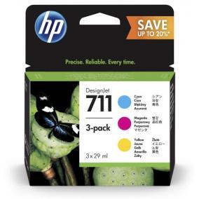 HP P2V32A [CMY] 3db #No.711 tintapatron (eredeti, új)