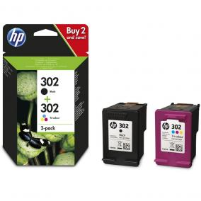 HP X4D37AE [BK/Col] #No.302 tintapatron (eredeti, új)