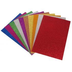 Moosgumi, A4, 2 mm, csillámos, vegyes színek [10 db]