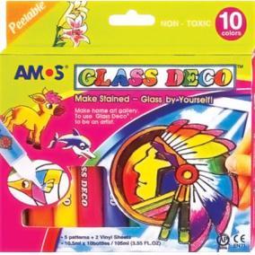 Üvegfóliafesték készlet, 10 különböző szín [10 db]