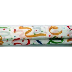 Krepp papír 50x200 cm, VICTORIA, szalagmintás