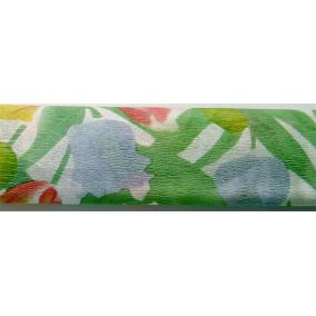Krepp papír 50x200 cm, VICTORIA, virágmintás