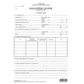 Hagyatéki leltár C.5668-9/A/UJ