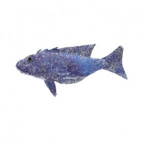 Hal dekor akasztós Papír 13 cm x 9 cm x 3 cm kék mintás