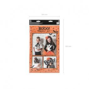 Halloween betűzős dekor papír 30 cm fekete,fehér [4 db]