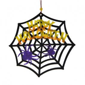 Halloween dekoráció pókháló textil 20cm