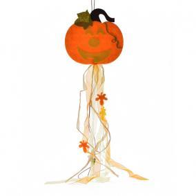 Halloween függő dekoráció textil 30cm