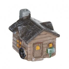 Házikó poly 2,3 cm x 2,2 cm x 2,2 cm barna [4 db]