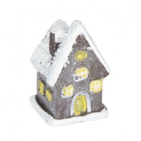 Házikó poly 2 cm x 2 cm x 3,3 cm sötétbarna [4 db]