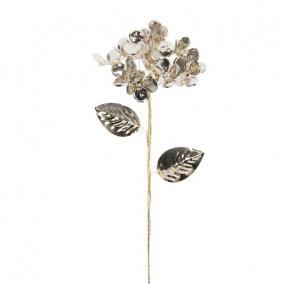 Hortenzia fényes polyester 60 cm x 12 cm x 12 cm arany