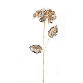 Hortenzia fényes polyester 60 cm x 12 cm x 12 cm bronz