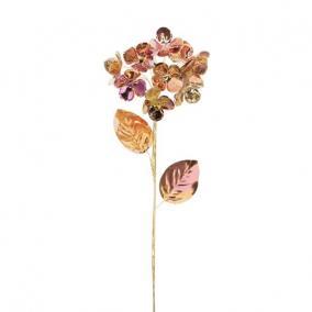 Hortenzia fényes polyester 60 cm x 12 cm x 12 cm rosegold