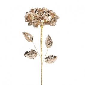 Hortenzia fényes polyester 60 cm x 20 cm x 20 cm bronz
