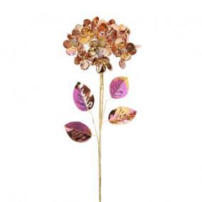 Hortenzia fényes polyester 60 cm x 20 cm x 20 cm rosegold