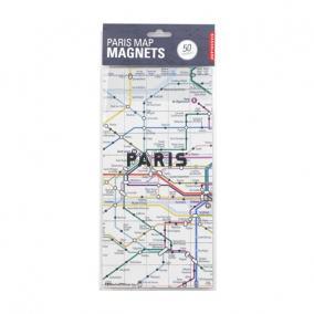 Hűtőmágnes, Párizs metró térkép