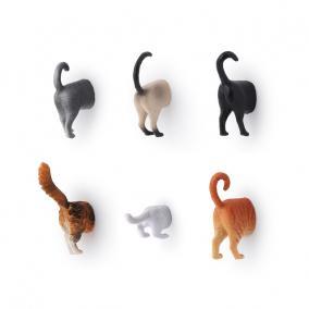 Hűtőmágnes, macska (6 db/szett)